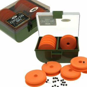 Chod Zig Rig Bin Box + 10 EVA Winders NGT (950) Tackle Box Carp Fishing
