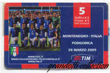 MONTENEGRO ITALIA PODGORICA 2009 RICARICA TIM USATA