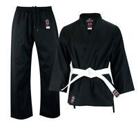 Malino Student Karate Suit 7oz Uniform Kids Adults with Free Belt White / Black