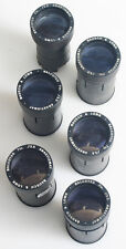 BAUSCH AND LOMB BALCOTED 7 INCH F/3.5 PROJECTION LENSES SET OF 6 AS IS
