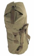 Canvas Duffle Duffel Bag Top Opening  with Handle & Backstraps Army Style