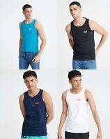 Superdry Mens New Summer Neon Lite Vest Top Black White Navy Blue