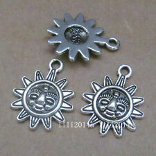 20pc Tibetan Silver Charms Sunflower Pendant Beads Jewellery Making  PL428