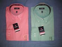 NWT NEW mens orange CHAPS wrinkle free performance series l/s dress shirt $50