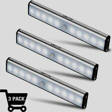 Motion Sensor Closet Lights, MOSTON 10 LED Wireless Under Cabinet Lighting, 3 Pk