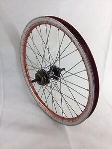 Odyssey T1000 BMX Wheel Torker Hub Alloy Red Mid School Rim T-1000