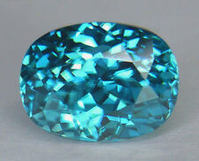 5.32CT FLAWLESS CLARITY PORTUGUESE CUSHION CUT BEAUTIFUL BLUE CAMBODIAN ZIRCON