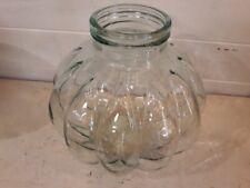 Ancien et rare très grand bocal en verre forme de citrouille - Vintage glass jar