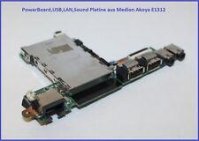 Power Board USB LAN Sound Platine aus Medion Akoya E1312 E1311