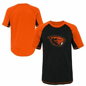 Outerstuff NCAA Youth Oregon State Beavers Color Block Rash Guard Shirt