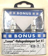 Xenon-las bombillas halógenas set h1 súper blanco con Xenon-gas White 2 lámparas bonus nuevo!!!