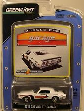 WHITE 1970 CHEVROLET CAMARO GREENLIGHT 1:64 SCALE DIECAST METAL MODEL CAR