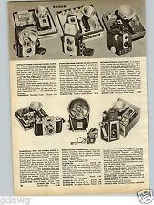1958 PAPER AD Kodak Brownie Hawkeye Starflex Camera Pony 35MM 135 Argus Super 75
