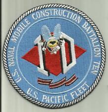 US NAVAL CONSTRUCTION BATTALION TEN US NAVY PATCH SEABEES 10 SAILOR SOLDIER USA.