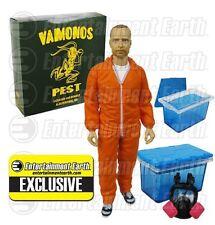 AMC EXCLUSIVE Breaking Bad Jesse Pinkman Orange Hazmat Vamanos Pest Suit Mezco