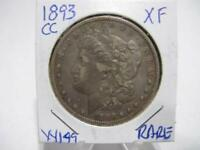 RARE DATE 1893 CC MORGAN DOLLAR VERY NICE EXF ESTATE COIN  w149