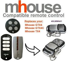 MHouse TX4, GTX4, GTX4C compatible remote control transmitter, 433,92MHz 4-ch