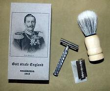 1914 GERMAN WW1 SAFETY RAZOR & SHAVING BRUSH  - repro