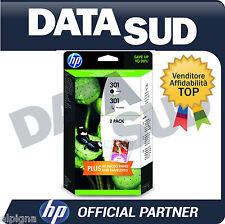 CARTUCCE ORIGINALI HP 301 BK+ 301 TRI-COLORE INK-JET PER HP DESKJET 1000...