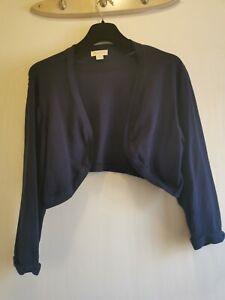 Monsoon - Navy shrug / bolero - Size 22 Long sleeve