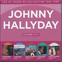 johnny hallyday coffret 5 vinyles avec 2 pressages étrangés neuf sous cello