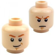 LEGO OBI-WAN KENOBI Dual Sided Orange Eyebrows Star Wars Flesh Minifigure Head