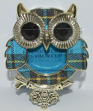 BATH BODY WORKS BLUE PLAID OWL SCENTPORTABLE HOLDER VISOR CLIP CAR AIR FRESHENER