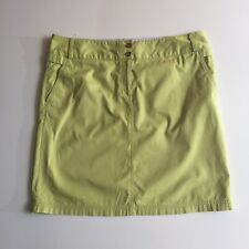 Ladies Lands End green flat front chino skirt size 14