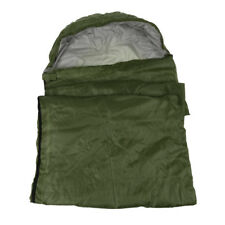 Adult Outdoor Camping Sleeping Bag Blanket Camp Mat w/ Carry Bag Army Green