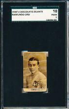 1930's Raimundo Orsi Rarely seen Chocolate card! Cioccolato Zelante SGC = PSA 1