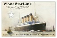 RMS Olympic - Titanic Danish Brochure Ad 12 x 18 - White Star Line