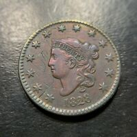1828 N5 R2 Lg Narrow Date Matron Head Large Cent XF Very Fine Newcomb Rarity 1c