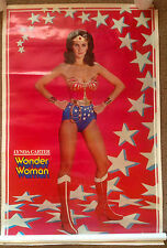 Vintage Lynda Carter WONDER WOMAN 1977 DC Comics Poster Thought Factory 23x35