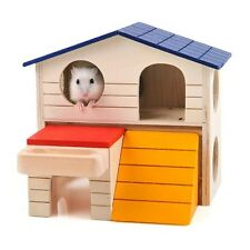 Pet Natural Small Wood Hideout House For Hamster Mouse Accessories