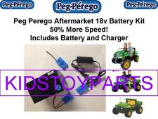 18v KIT for Power Wheels Peg Perego 12V Cars (Battery, Charger & Car Plug)