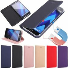 Magnetic Leather Wallet Flip Case CoverFor Samsung Galaxy A3 A5 A7 J3 J5 J7 2017