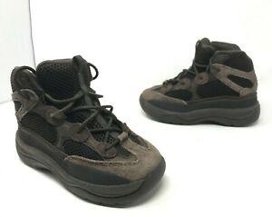 Adidas Yeezy Desert Boot Kids Sneakers Sz 1.5 Oil Brown EG6489 PS Retro OG youth
