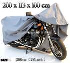 L MOTORCYCLE WATERPROOF OUTDOOR MOTOR BIKE SCOOTER RAIN DUST VENTED COVER LARGE