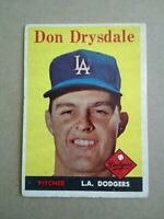 1958 Topps # 25 Don Drysdale VG-VGEX (crease)