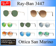 Ray-ban Sunglasses Round Metal RB 3447n 001/8o 50mm Shiny Gold/wisterla Flash