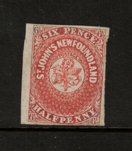 Newfoundland #7 Mint Fine+ Unused (No Gum) **With Certificate**
