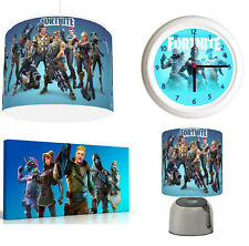 FORTNITE - Light Shade ,Touch  Lamp, Wall Art, Wall Clock or Bundle blue