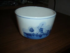 New listing Blue & white windmill design ceramic round planter made in Taiwan