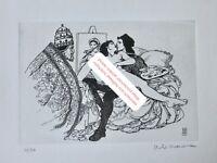 MILO MANARA THE POPE Picasso Suite 347 gravure Radierung acquaforte etching