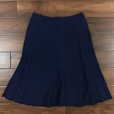 Cabi Womens Size 4 Navy Blue Textured Tulip Skirt A Line Knee Length 3097