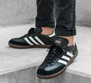 ADIDAS SAMBA HAMBURG MENS BLACK LEATHER SHOES JEANS CITY BERN GAZELLE 019000 NEW
