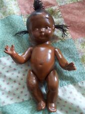 ANTIQUE COMPOSITION DOLL BLACK BABY GRUMPY TOP KNOT VINTAGE EFFANBEE ERA