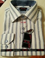 New Linen Striped Long Sleeve Shirt byT.R