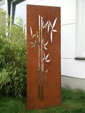 Edelrost Garten Sichtschutz Wand Rost Sichtschutzwand Metall 150*50 cm