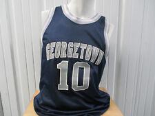 VINTAGE LOGO ATHLETIC GEORGETOWN HOYAS #10 MEDIUM BASKETBALL BLUE JERSEY PREOWNE